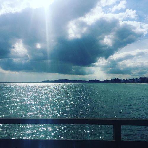 Water Sea Cloud - Sky Blue