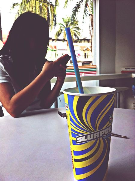 Slurpee Chilling Friends
