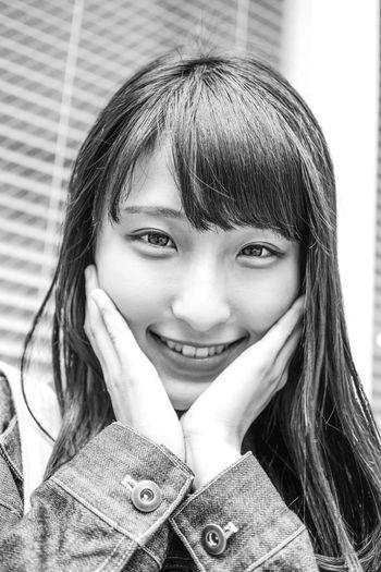 Glitter Japanese  Tokyo PENTAX K-70 Pentax Black & White Monochrome Street Portrait Portrait Young Women Beautiful Woman