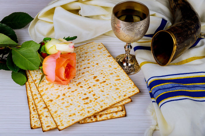 Pesah celebration concept Jewish Matzah bread with wine. Passover holiday concept Passover Holiday Torah Torah Reading Drink Food Freshness Glass Jewish Holidays Judaism Kosher Breakfast Kosher Food Kosher Symbol Matza Matzah Matzo Matzoth Passover Jewish Pesach Pesachah Pesah Ready-to-eat Religion Wine Wineglass