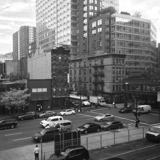 Chelsea district from The Highline, New York Newyorkcitystreets Blackandwhite Cityscapes New York City IPhoneography Chelsea B&w Street Photography