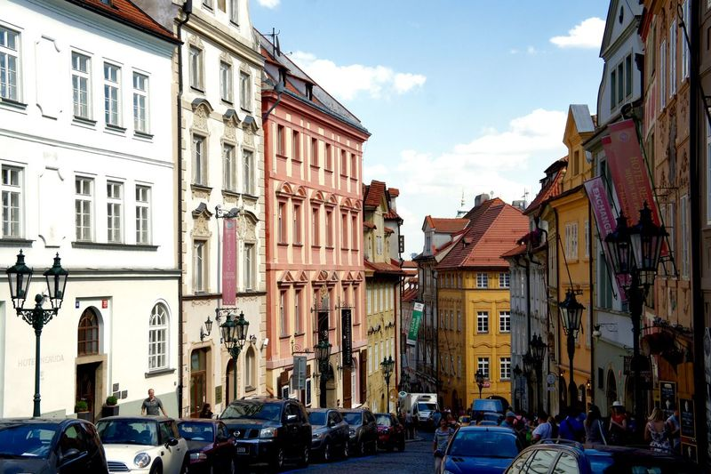 #Afternoon #alley #colourful #House #late Summer #old Buildings #Prague #urban Scene