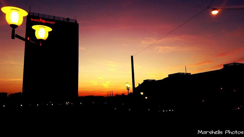 Eveningsky Taking Photos in Potsdam Germany Goldensunspot Shooting In The Evening Light Last Sun Mercure Hotel