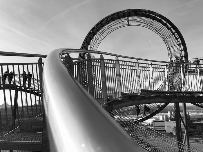 Tiger And Turtle Sky Nature Railing Architecture Day Metal No People Built Structure Playground Low Angle View Bridge - Man Made Structure