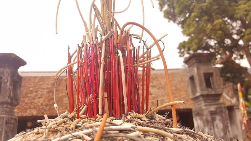 Beauty Detail Insence Stick Like PhonePhotography Red Religion Religion And Beliefs Temple Vietnam Vietnam Trip