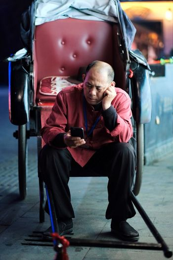 Rickshaw Full Length Adult Sitting Men One Person Males  The Art Of Street Photography Lifestyles