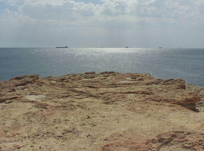 Landscapes With WhiteWall Malta Marsascala Mediterranean  Mediterranean Sea Rock Formation Sea View St. Thomas Bay