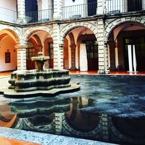 Historiccenter Downtown Mexico Cdmx Museum Cancilleria Architecture Patio Yard Fountain Reflection Mirror