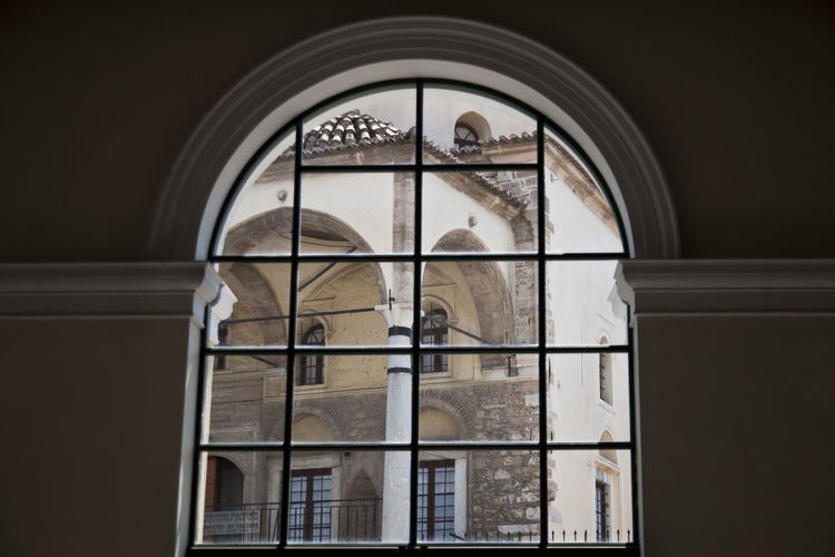 Museum of Greek Folk Art, Athens, Greece Arch Architecture Athens Built Structure Columns Day Design Greece Historic Horizontal Metro Metro Station Monastiraki Mosque Old Mosque Religion Symmetry Wall Window