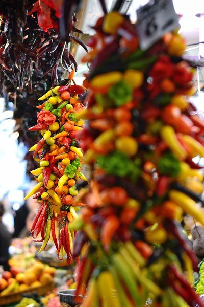 Fruit Market No People Nature Barcelona, Spain Mercato Verdura Food Travel Photography
