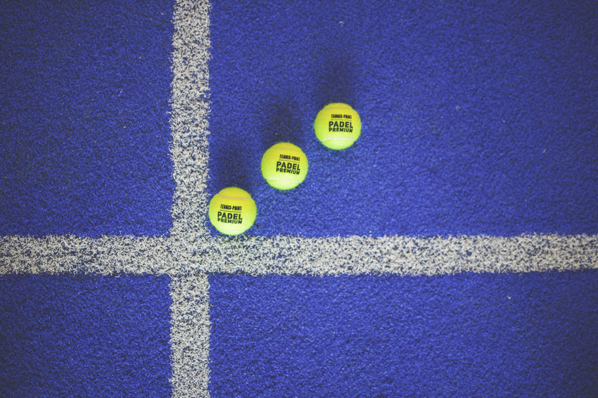 3 LINE Padel Balls Close-up Lines And Shapes Paddle White