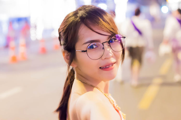 Thai Sty Thai Girl Thailand Adult Beautiful Woman Beauty Close-up Emotion Eyeglasses  Focus On Foreground Glasses Hair Hairstyle Happiness Headshot Looking At Camera One Person Portrait Smiling Toothy Smile Women Young Adult