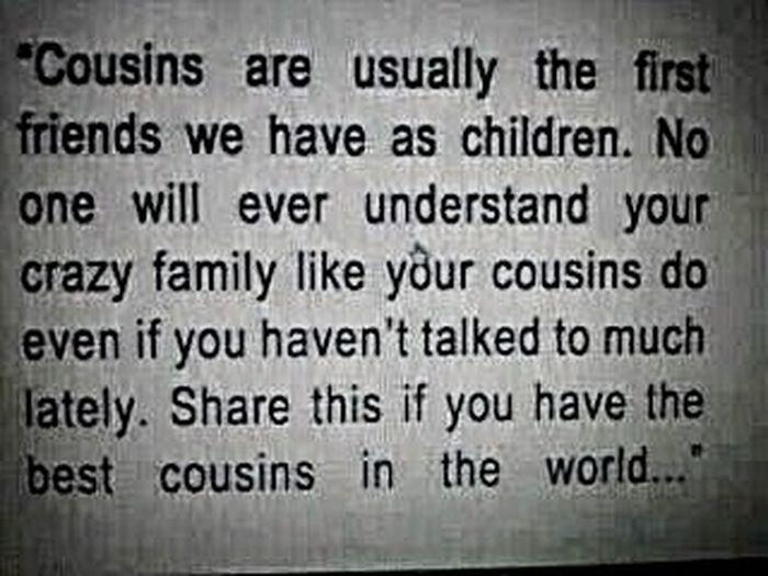 Gotta love our cousins.