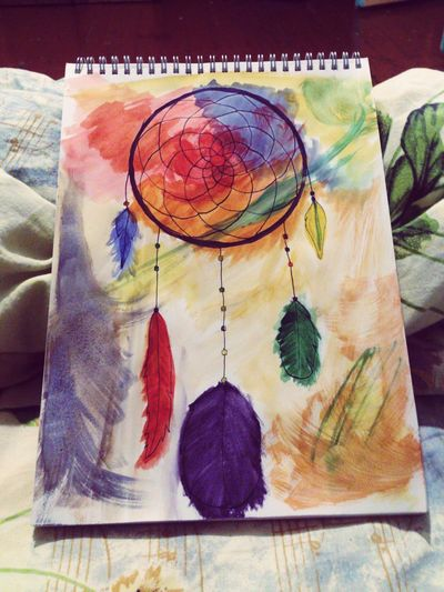 Sevastopol  Drawing Painting Dreamcatcher Watercolour Ink Colorful