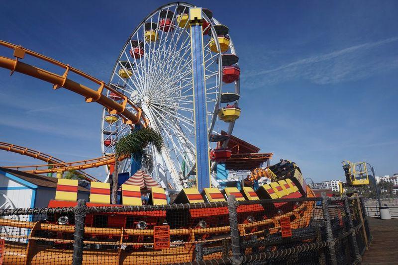 Ferris Wheel Against Sky At Amusement Park
