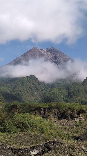 Merapi mountain in yogyakarta indonesia
