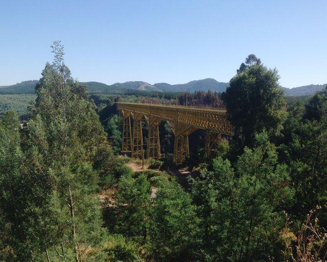 Bridge Train Architecture Chile Eiffel Bridge's Landscape Day Water Mountain Flying High Flying High