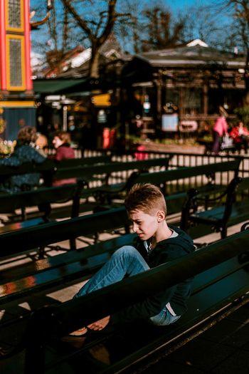 Childhood Child Children Kid Kids Boy Portrait Portrait Photography Portrait Of A Boy Bench Fairground Amusement Park Sitting Head And Shoulders The Street Photographer - 2018 EyeEm Awards