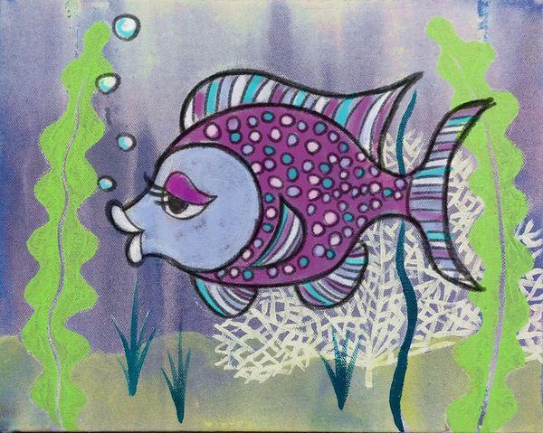 A small fish Art Drawing Fish Baby