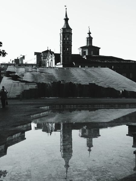 Church Tower Riflessi Riflection Reflection Architecture History Built Structure Black And White Friday Be. Ready. EyeEmNewHere Adventures In The City Focus On The Story