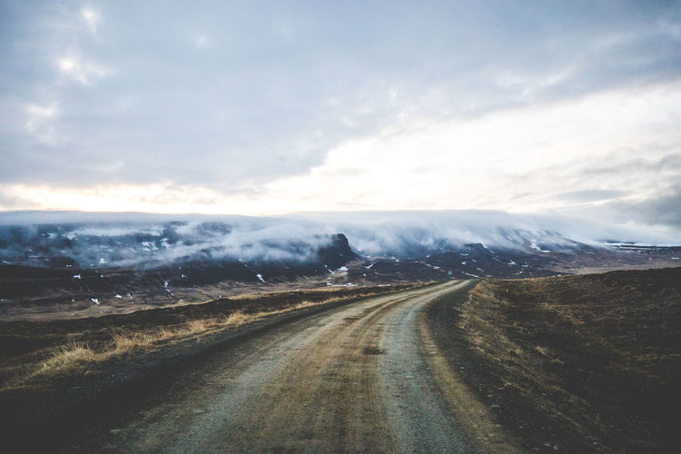 Days of travel: 9 - Norðurland vestra Iceland Misty Beauty In Nature Cloud - Sky Country Road Day Direction Environment Fog Iceland_collection Land Landscape Mist Mountain Nature No People Non-urban Scene Outdoors Road Scenics - Nature Sky The Way Forward Tranquil Scene Tranquility Transportation The Great Outdoors - 2018 EyeEm Awards