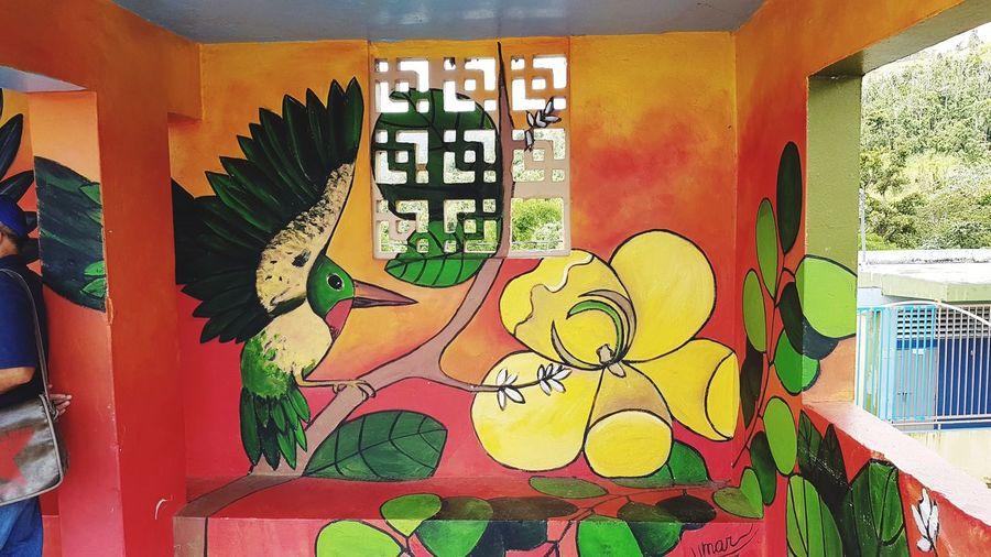 Multi Colored Architecture Built Structure Close-up Street Art Mural Art