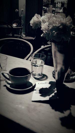 At Caffe Chill Zagreb Blackandwhite