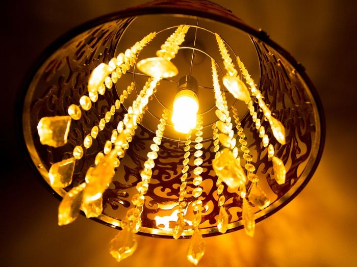lamp Illuminated Hanging Close-up Light Bulb Chandelier Darkroom Crystal Electricity  Hanging Light Electricity Pylon Electricity Tower Gemstone  Electric Bulb Lighting Equipment