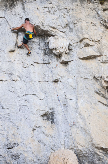 Full length of a person on rock