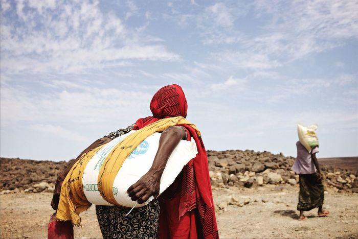 Carrying food supplies. Djibouti. Documentary Leicacamera Africa