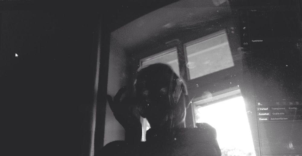 Don Filter Blackandwhite Selfportrait Silhouette