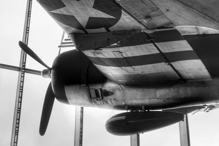 P45 Transportation Day Low Angle View Outdoors Military No People Sky Close-up Old Plane Mustang