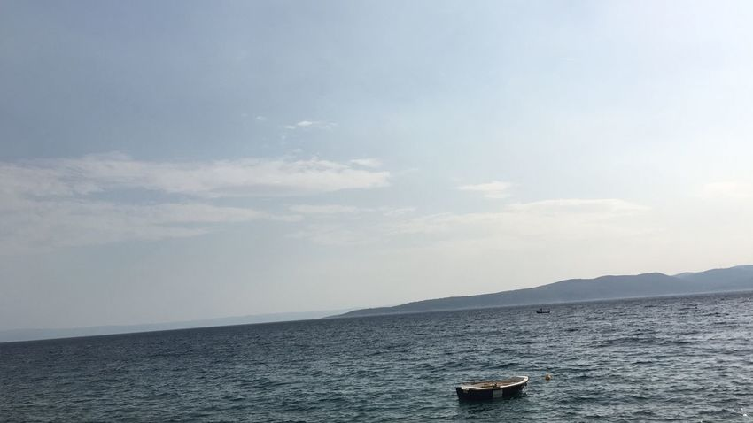 No Filter Water Sea Sky Scenics Nautical Vessel Tranquility Tranquil Scene Beauty In Nature No People Day Waterfront Nature Outdoors Cloud - Sky Horizon Over Water Boat Wave Island View Croatia Brela