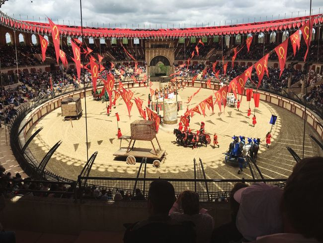 PuyDuFou Themepark WOW RomanColosseum Replica  Lions Show Inlove Flags