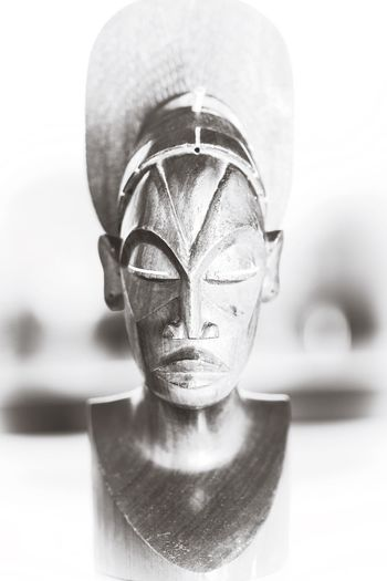 Hand carved wooden African sculpture collected in Congo Sculpture Handcarved Vintage
