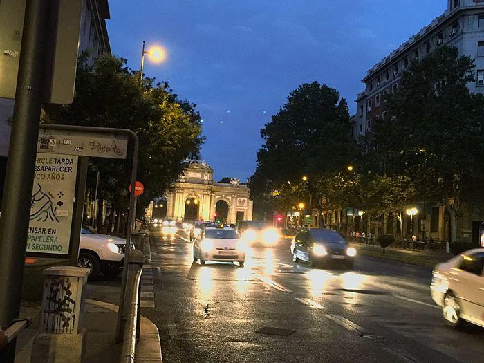 Night City Traffic Madrid Spain IPhone 6 Plus Photohgraphy📱📸 La Puerta De Alcalá