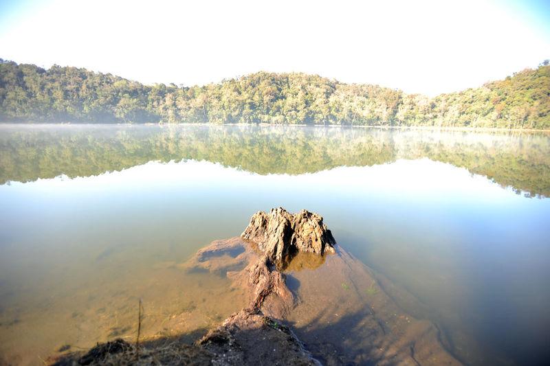 Laguna chicabal, a lake sacred to the mayan people, guatemala, central america.
