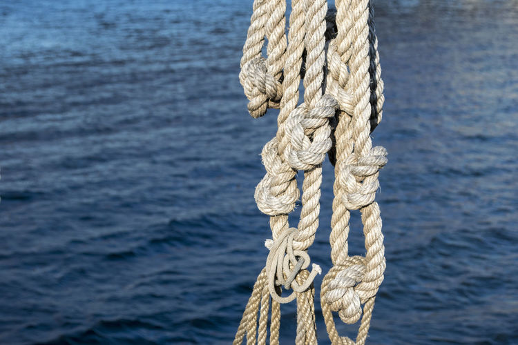 Close-Up Of Railing On The Sea