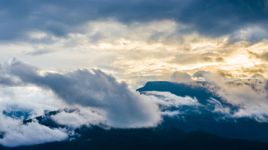Cloud - Sky Sky Scenics - Nature Beauty In Nature Nature No People Cloudscape Environment Dramatic Sky Tranquility Tranquil Scene Outdoors Heaven Wind Awe Moody Sky Day Mountain Atmosphere Meteorology Above Champasak Laos