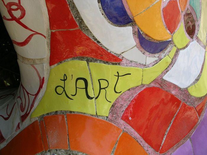 L'Art. Tarot Garden, Italy, 2009. Nikki De Saint Phalle Tuscany Italy Art Mosaic Travel Photography No Filter, No Edit, Just Photography No People Travel The Purist (no Edit, No Filter) Tarot Tarot Garden