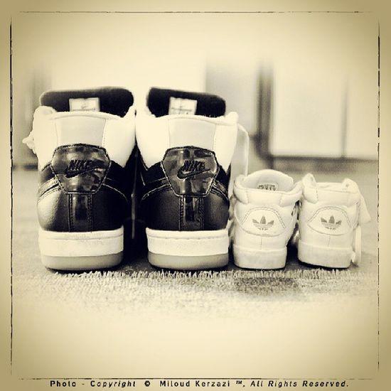 Sneackers - Mes baskets et celles de mon fils MOUSSA à la Mosquée. Fujix100 Nike Adidas