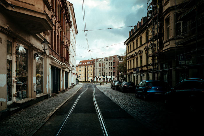 Köpenick old town Berlin Photography Light Tram Urban Geometry Architecture Berliner Ansichten Building Exterior Built Structure Car City Day Daylight Light And Shadow No People Outdoors Road Shadow Sky Street Streetphotography Suburban The Way Forward Tramway Transportation Urban