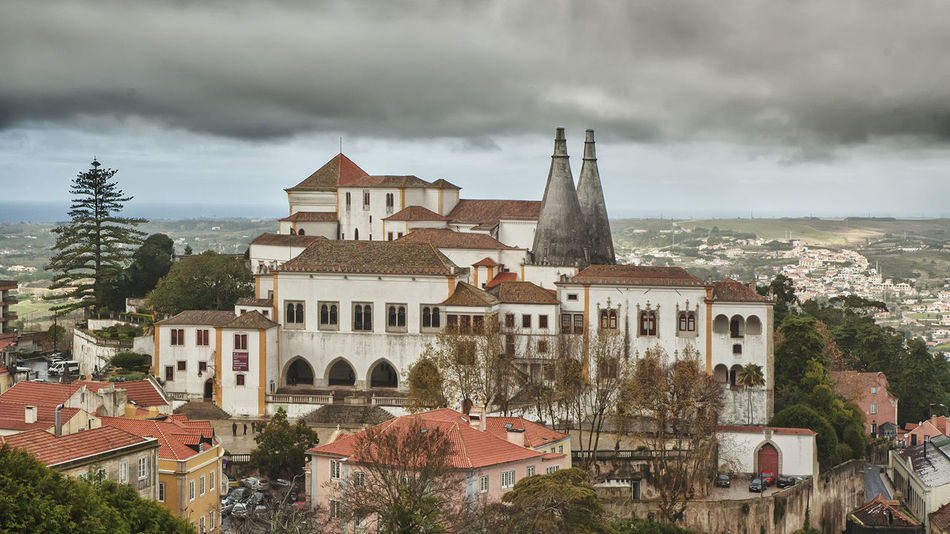 Architecture Building Exterior Built Structure Palace Palacio Nacional De Sintra Sintra, Portugal Travel Destinations Turism