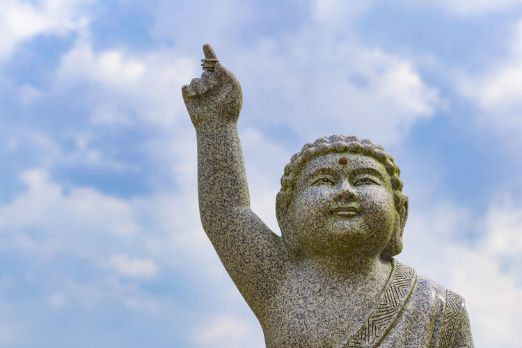 Rock - Object Copy Space Vihara Ksitigarbha Bodhisattva Day Colors Still Life Travel Destinations Buddhist Outdoors Temple Budhist Temple Blue Sky Close-up Statue Statue Sky Cloud - Sky Sculpture Buddha Idol Human Representation Place Of Worship Carving - Craft Product Sculpted Art Buddhism Angel
