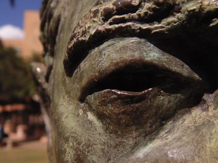 Art And Craft Close-up Deep Eye Face No People Sculpture Statue
