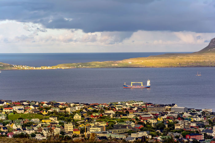 Overlooking Torshavn, the capital of the Faroe Islands, is the world's smallest capital Architecture City Panorama Capital City Faroe Islands Island Northatlantic Tórshavn