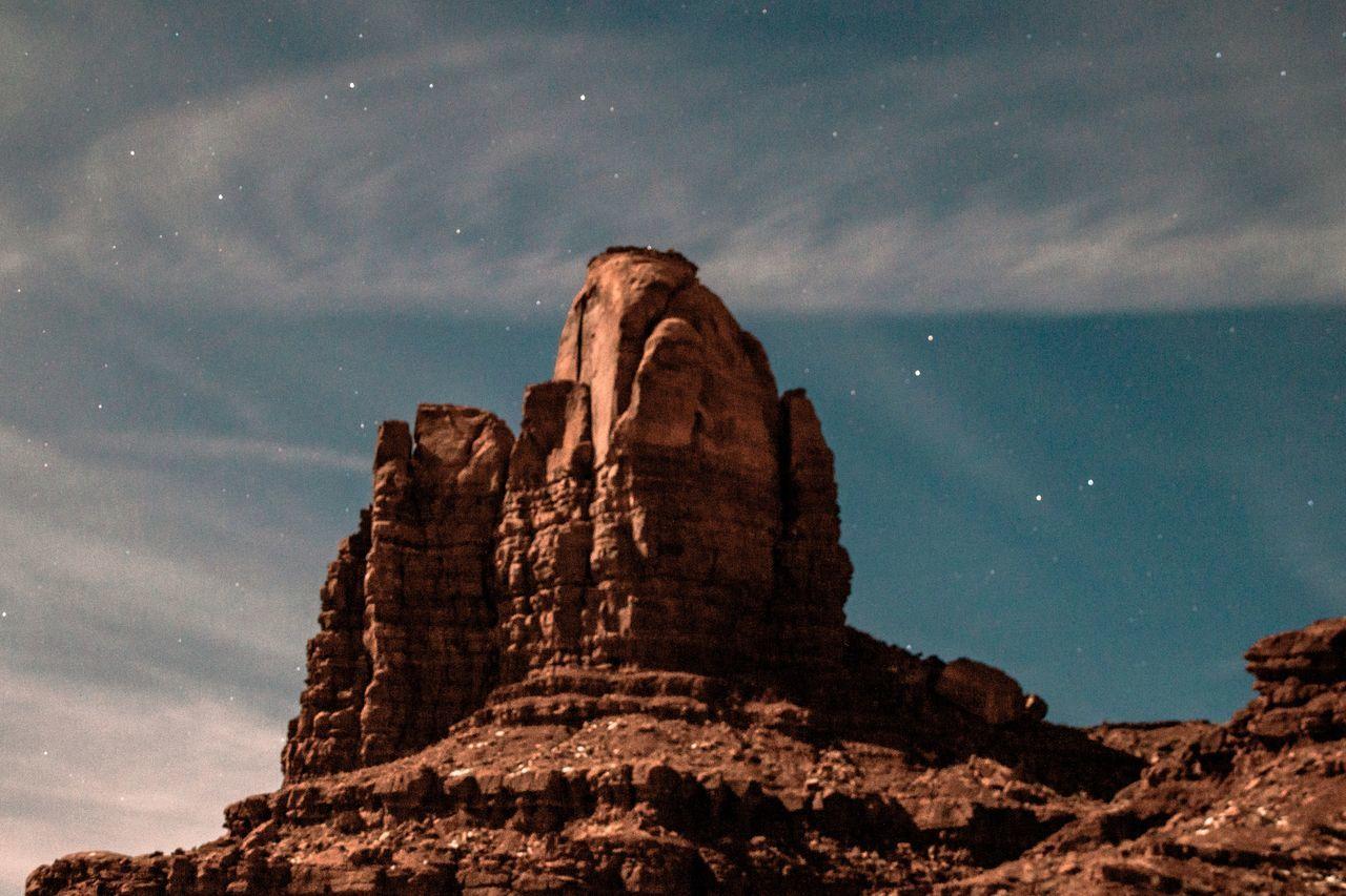 sky, rock, rock formation, rock - object, cloud - sky