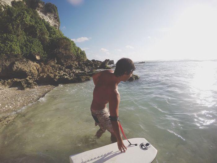 Ready to a amazing bodyboard session at Uluwatu, Bali Surf BodyBoarding Beach Summer Views Shorebreak Uluwatu Bali