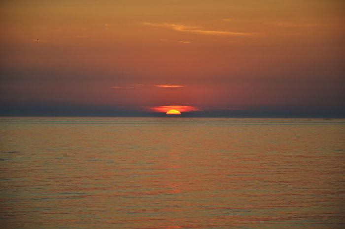 Albania Durres Albania Pacefulplace Horizon Over Water Sea Sunset Beauty In Nature Sun No People Outdoors Nature Multi Colored Horizon Lighthouse Sky