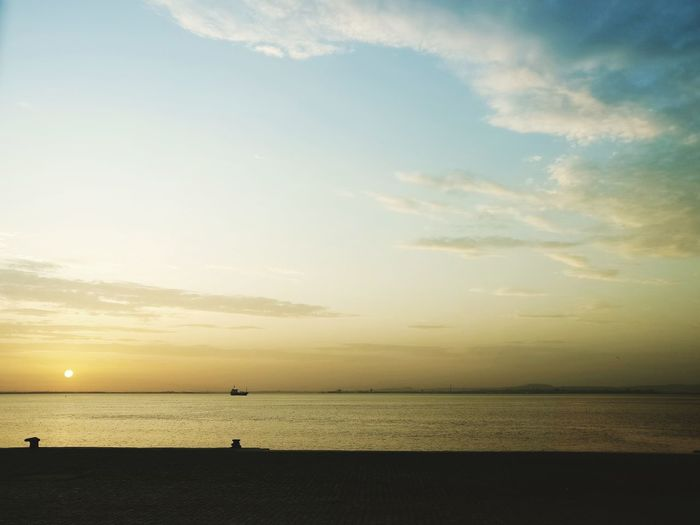 Horizon Over Water Sky Cloud - Sky Dramatic Sky Sun Nature Tranquil Scene Water Sea Tranquility Scenics First Eyeem Photo